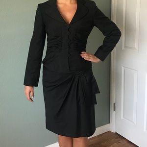 Nine West black skirt suit